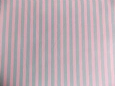 Mint with White Stripe 100% Cotton Fabric